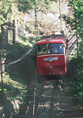 the old Floyen funicular train