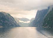 looking down Lysefjord towards Lysebotn