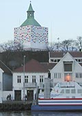 Valberg tower as a ine box, with Sorensens restaurant beneath