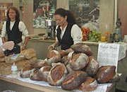 all types of local specialities - like bread from Gamlavaerket