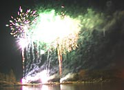 fireworks seen across the water
