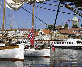 Stavanger harbour during the Gladmat food festival