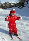 only three years old but enjoying a ski tour
