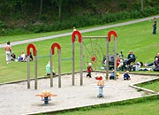 lopen grass play areas and playground