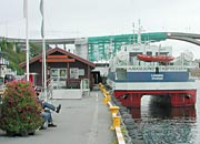 Smedasund is the harbour and sea passage through central Haugesund