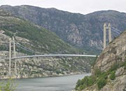 the bridge across to Forsand by the mouth of Lysefjord