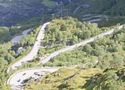 the 27 hairpin bends down to Lysebotn