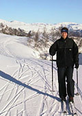 skiing near the apine skiing area at Svandalen
