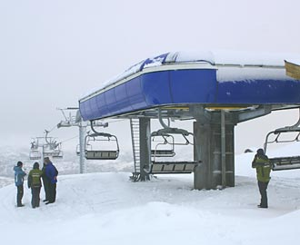 top station of the new chairlift at Tjorhomfjellet