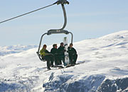 the 4 seat express chairlift