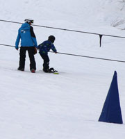 first snowboard lesson